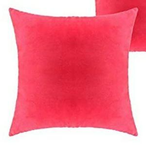 ⭐NEW⭐ - Watermelon Pink Velvet Pillow - 18X18